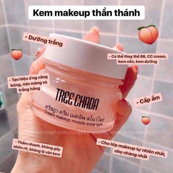 kem dưỡng trắng makeup Treechada