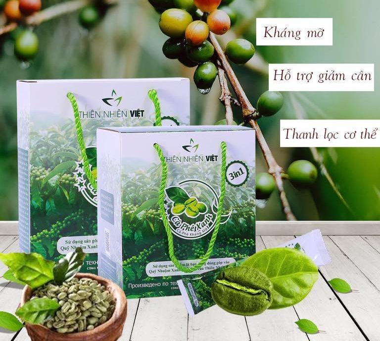 cafe xanh giảm cân