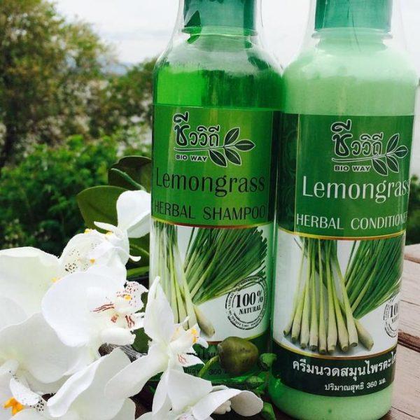 Cặp dầu gội xả hương sả Bio Way Lemongrass