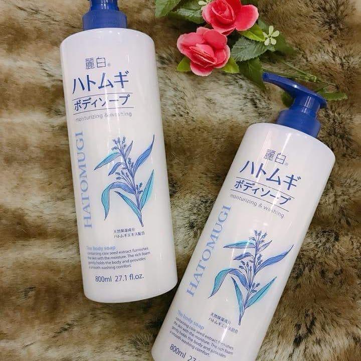 Sữa tắm trắng da Hatomugi Moisturizing Washing