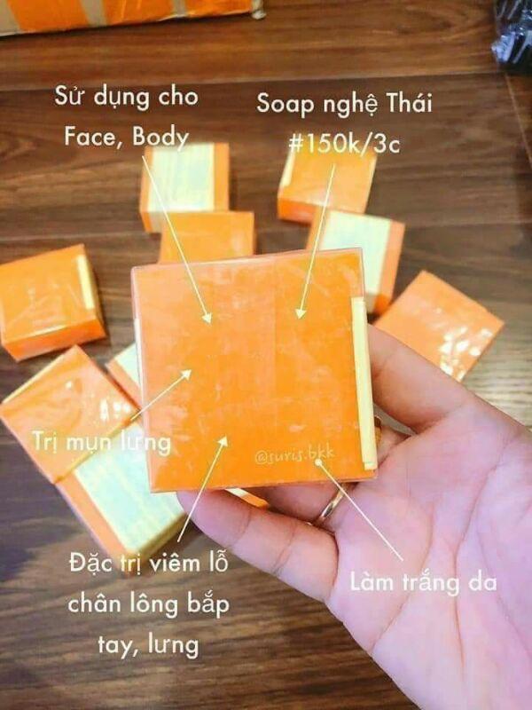 Xà bông cam nghệ Thái Lan
