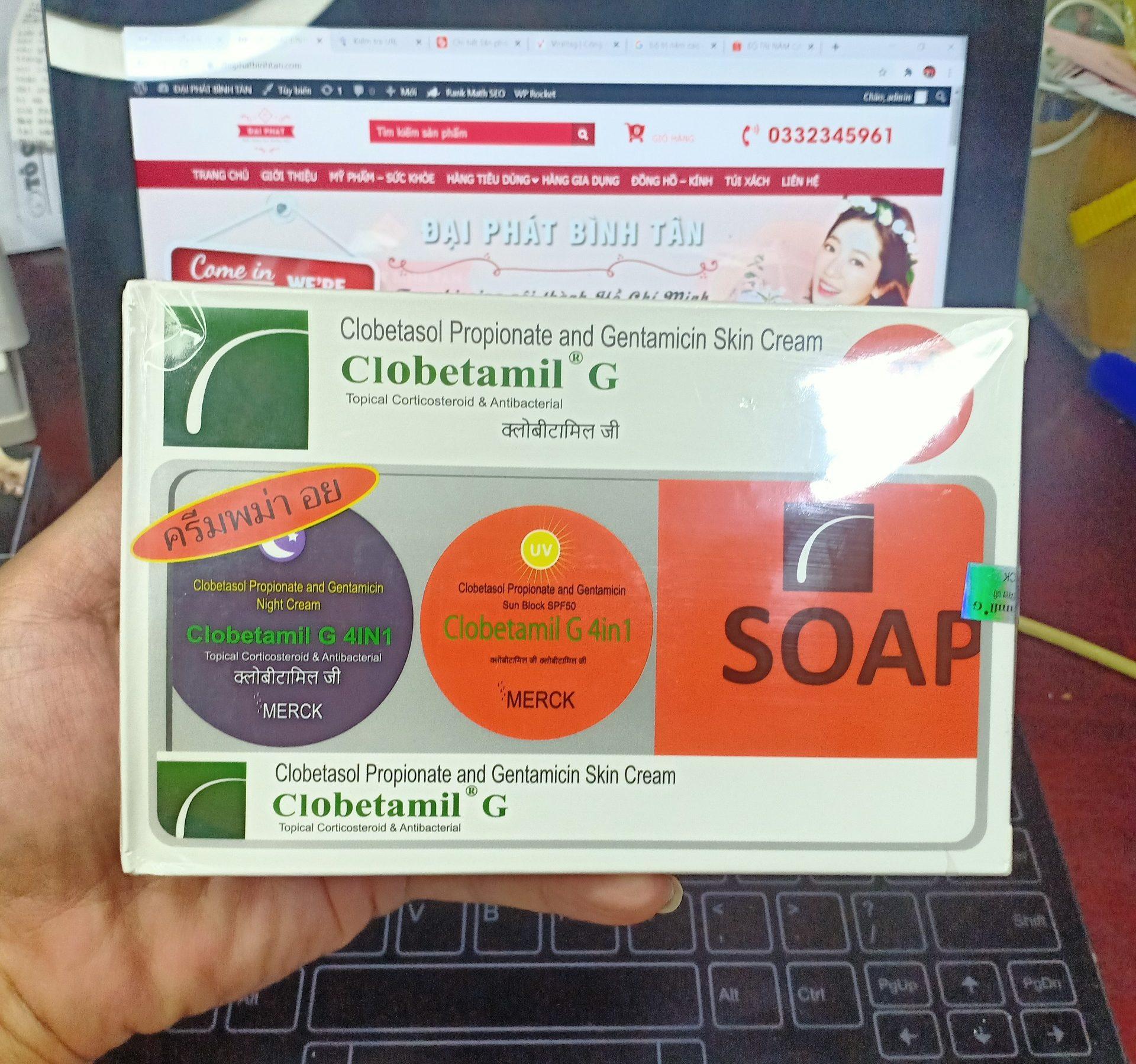 bộ kem trị nám tàn nhanh cao cấp Clobetamil G