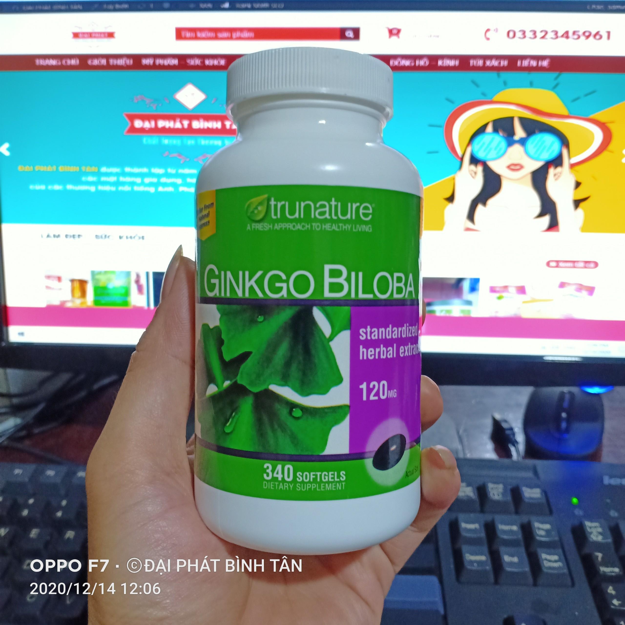 Viên uống bổ não Ginkgo Biloba