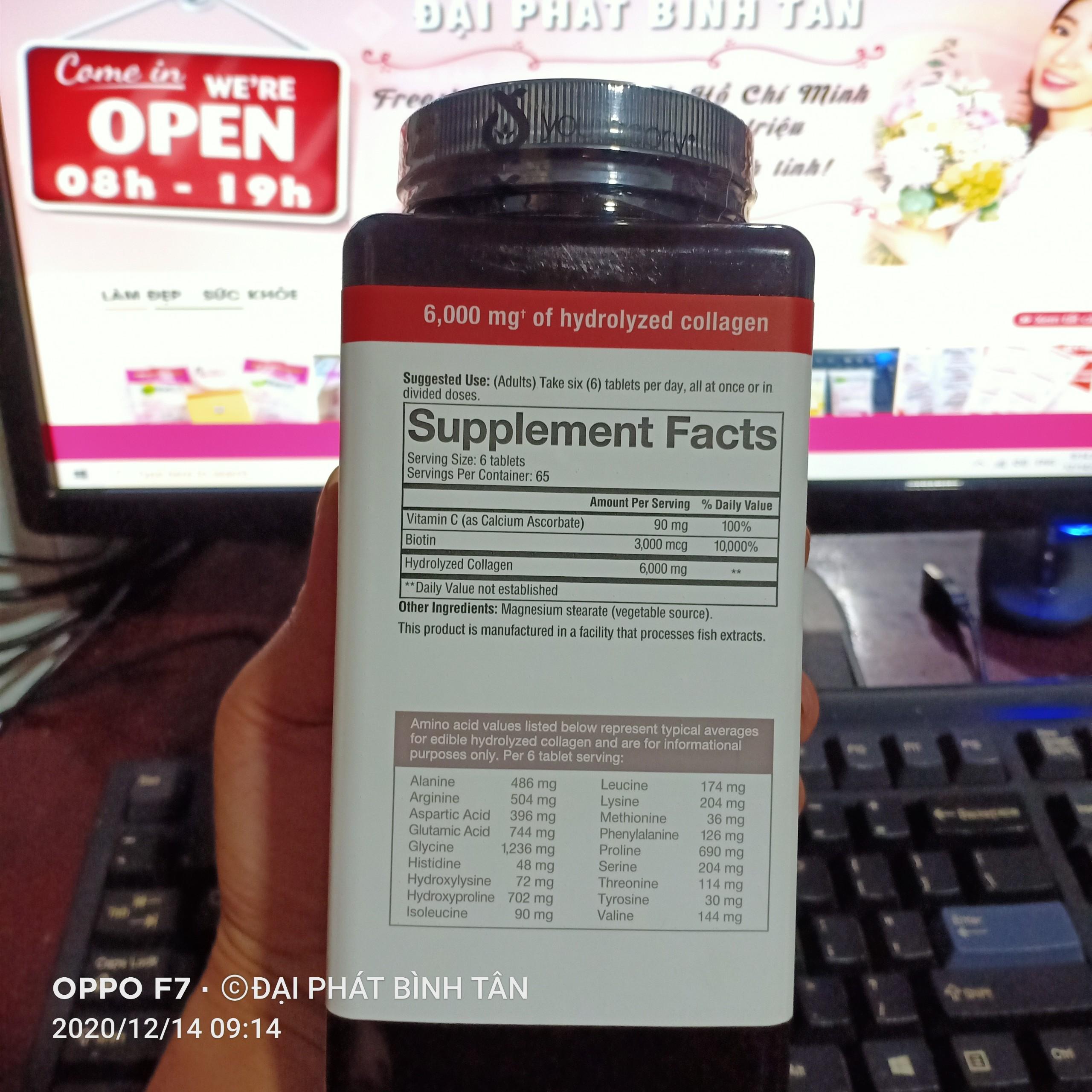 Viên uống Collagen Biotin 6000 mg