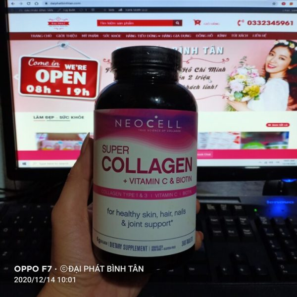 Viên uống Super Collagen Vitamin C và Biotin